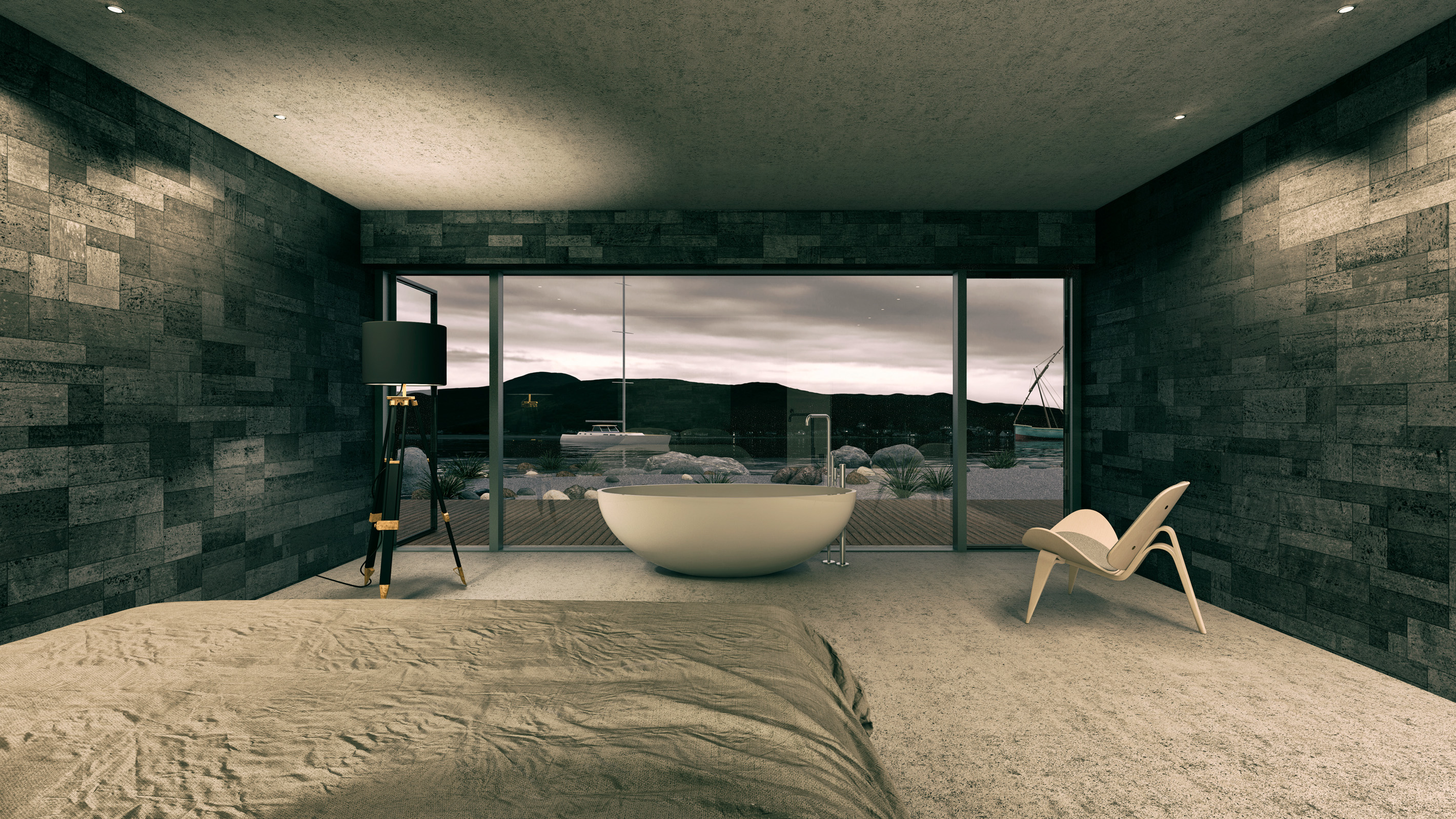 Architectural Visualization for a Hotel in Lochranza. Scottland.