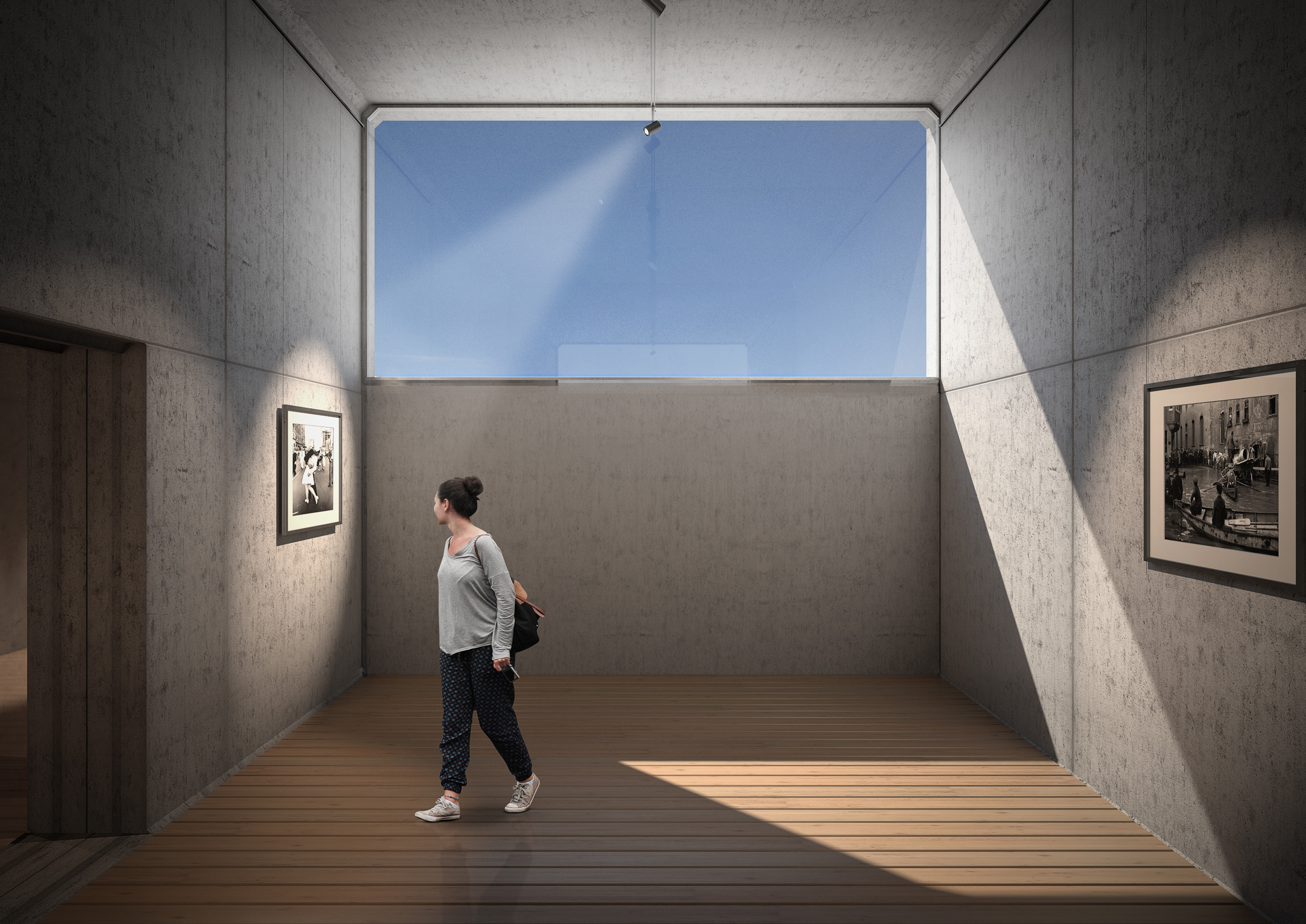 Architectural Visualization for a deployable Art-Pavillion for the Contemporary Art Museum SERRALVES in Porto, Portugal.