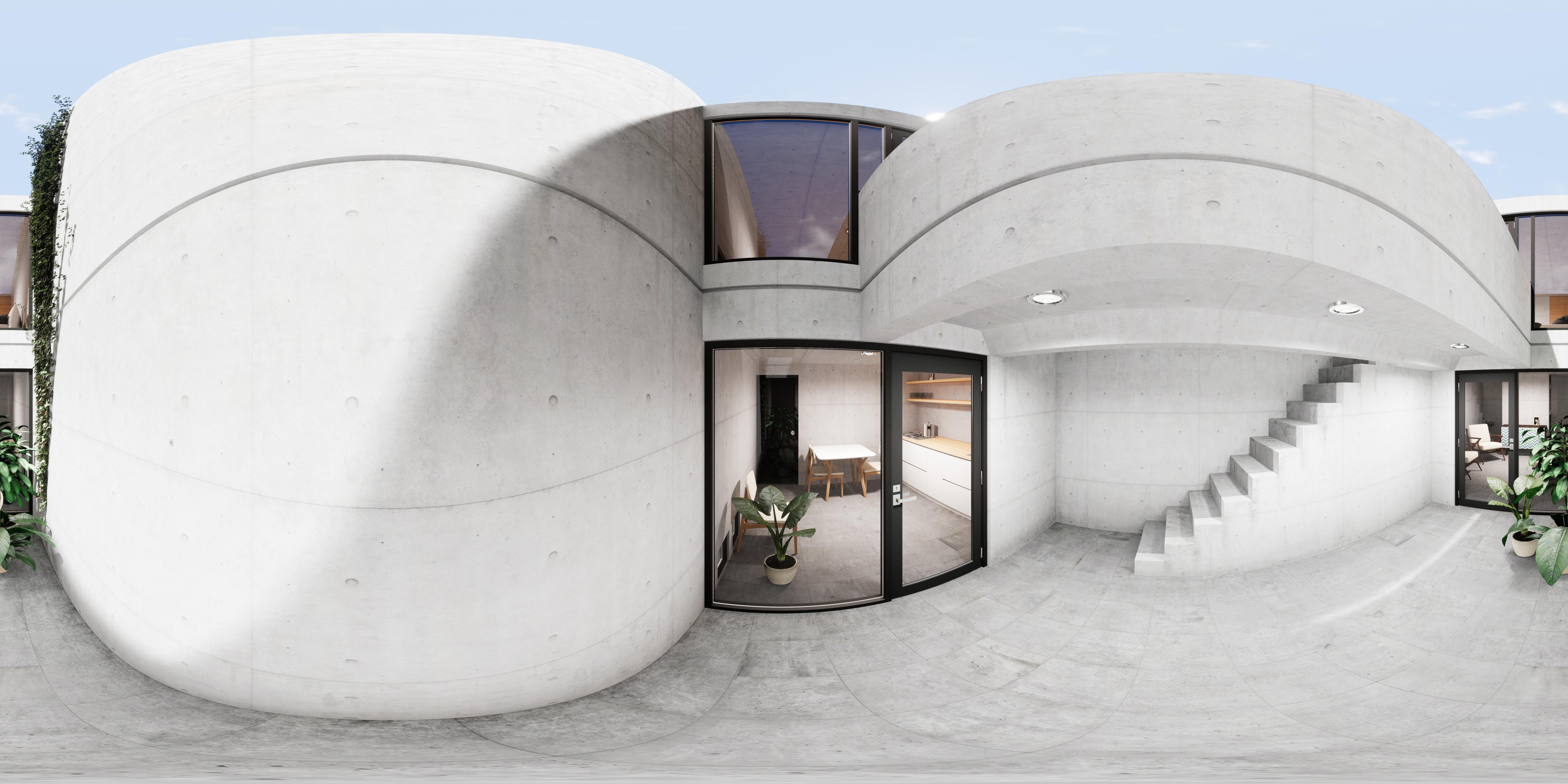 Virtual Reality Azuma House by Tadao Ando. NATA.ARCHVIZ