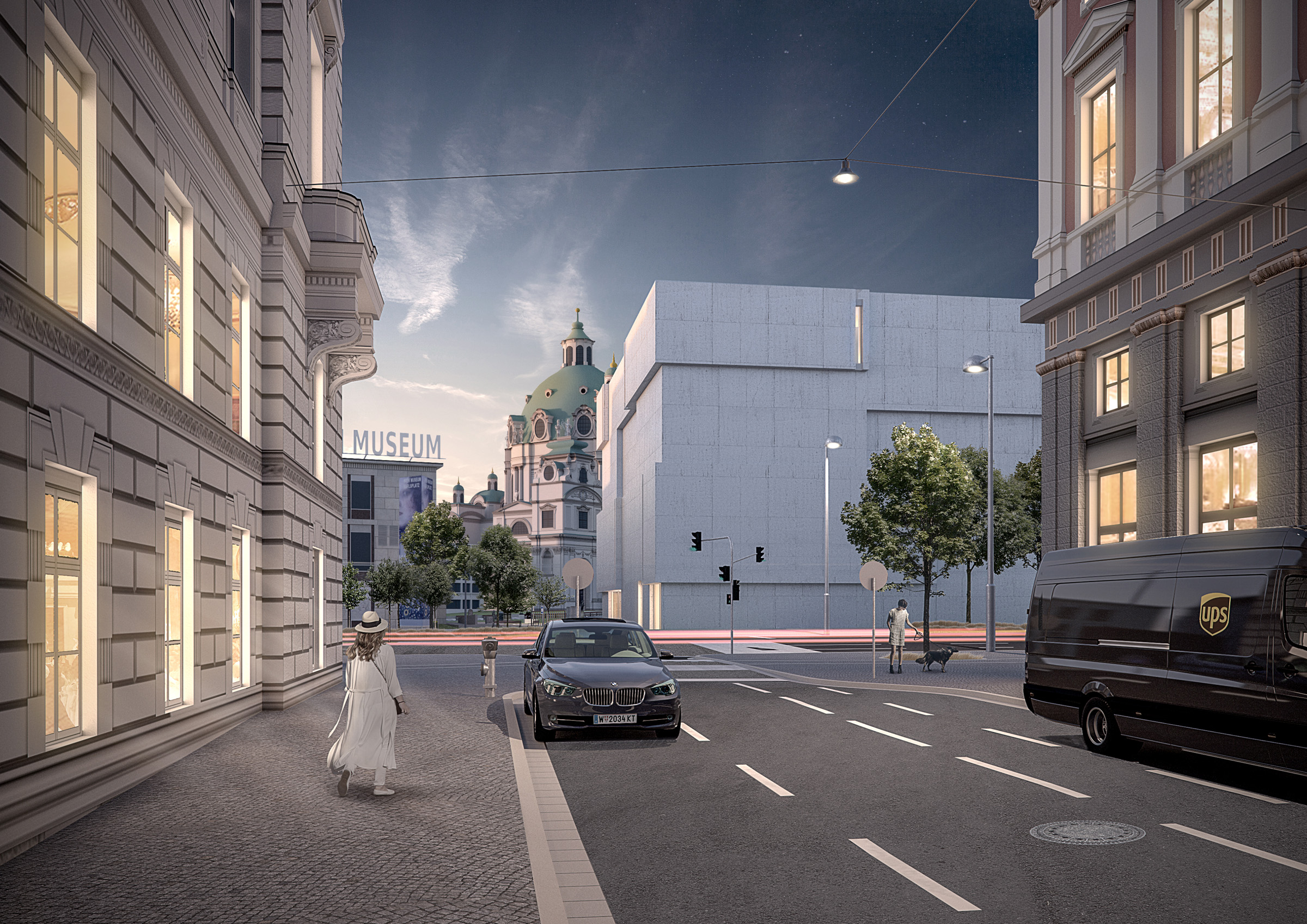 Architectural Visualization for a competition for the Wien Museum by Baumschlager Eberle in Vienna, Austria.