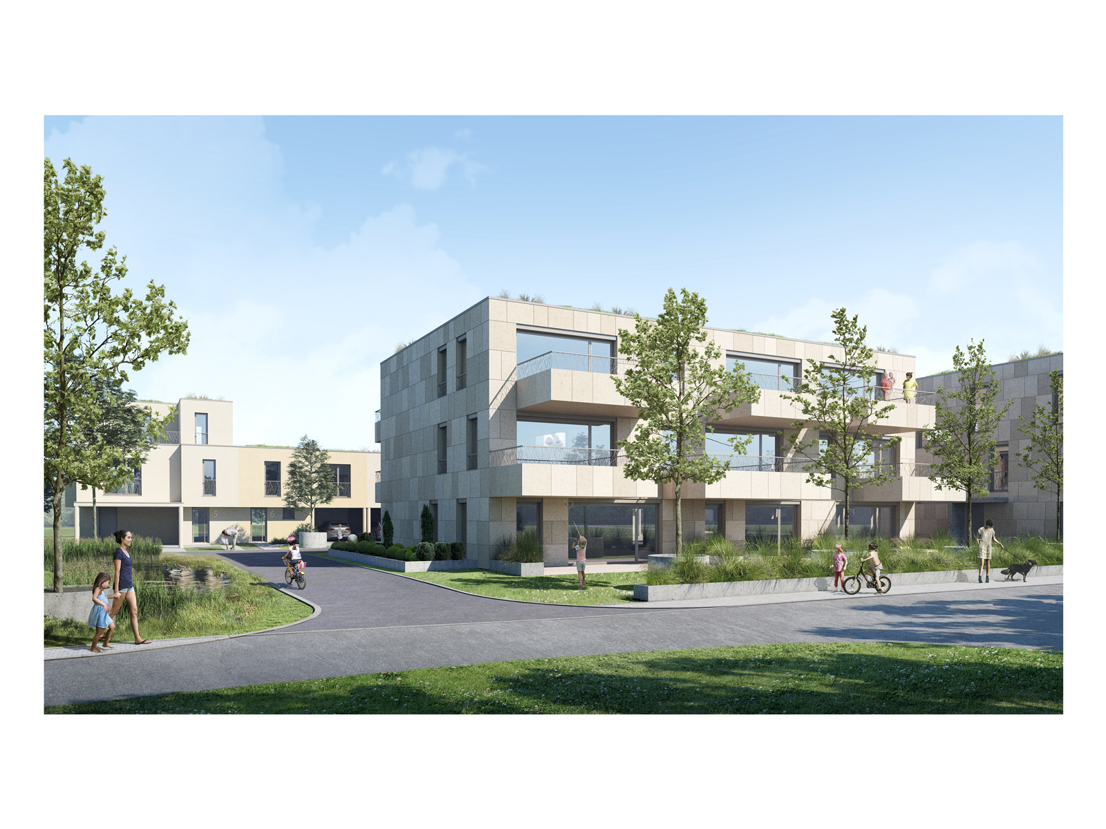 Architectural Visualization for an apartment in Luxembourg.