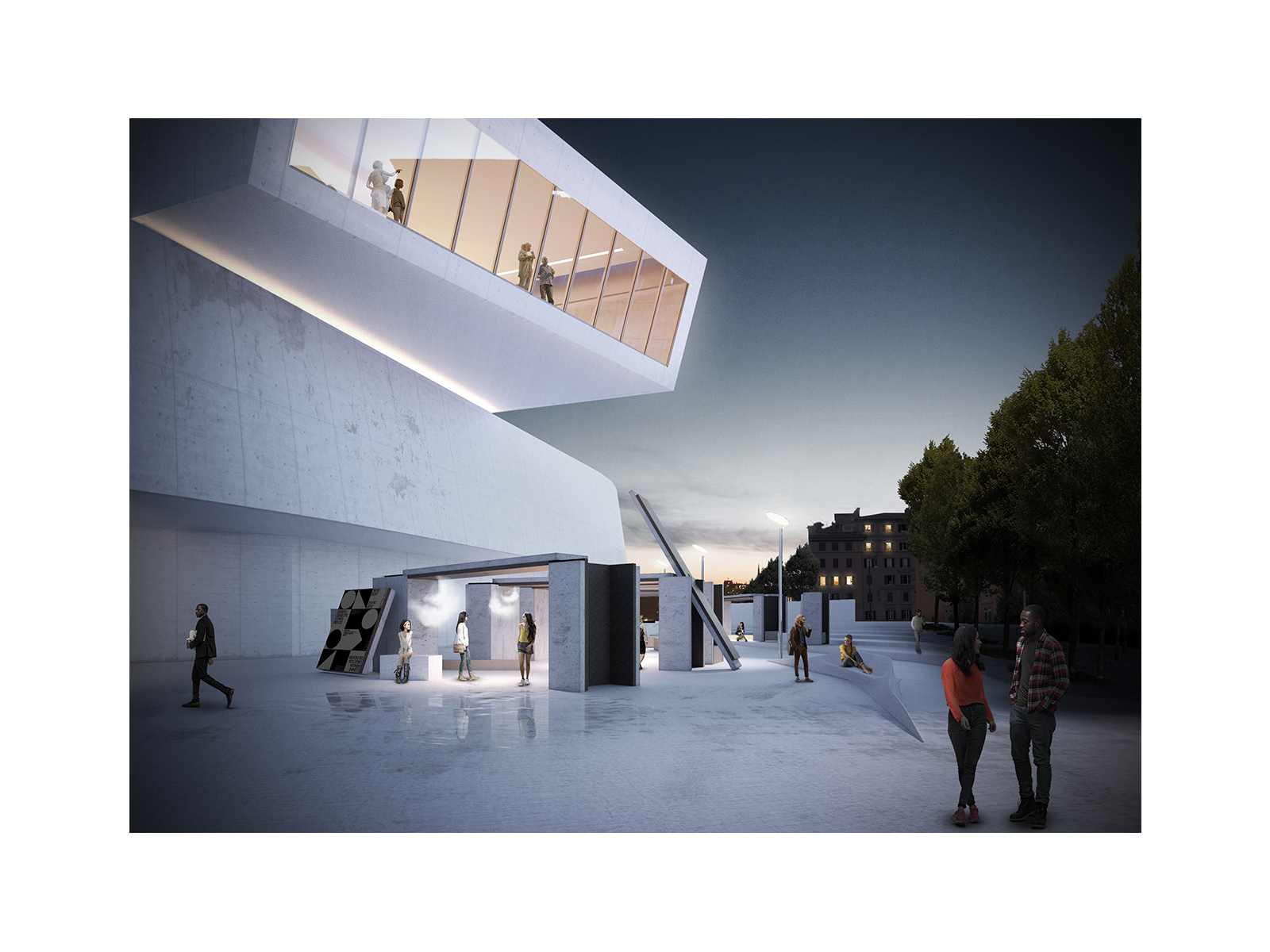 Architectural Visualization for SUMMARY architects proposal for MAXXI Museum in Rome.