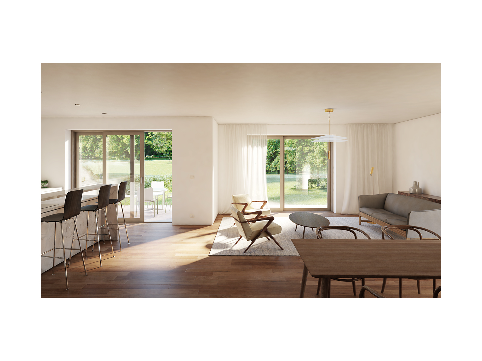 3D Images for an apartment in Luxembourg.