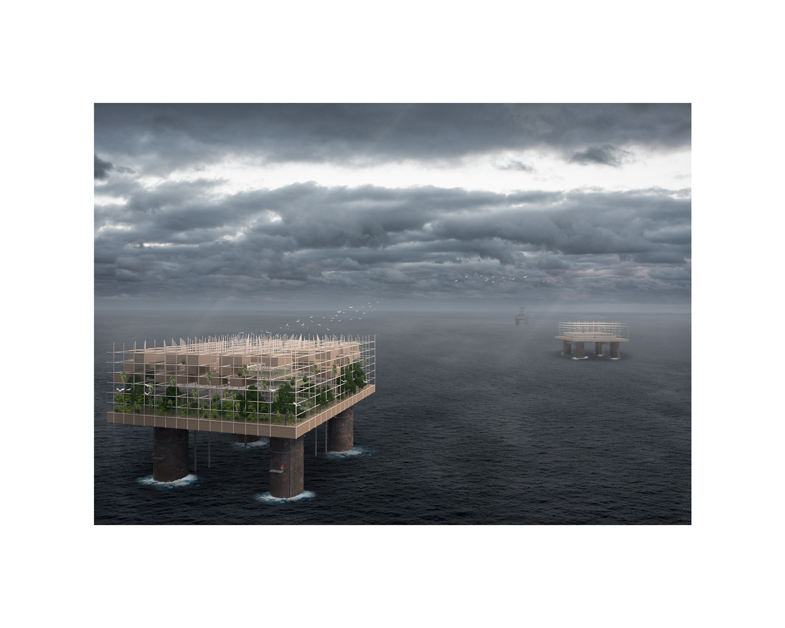 Architectural Visualization Competition for an post apocaliptic earth.
