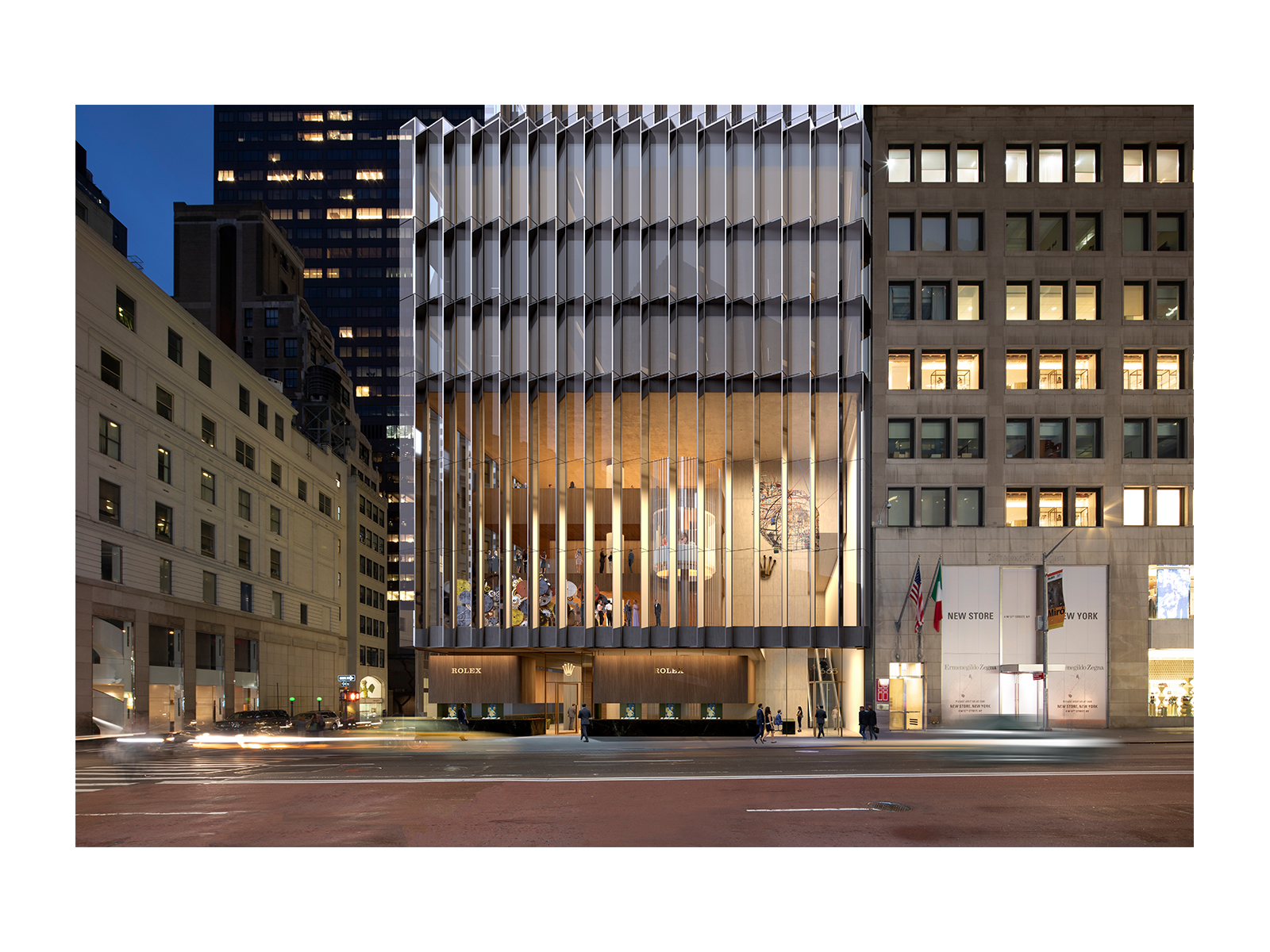 Architectural Visualization for a headquarter office building in New York by David Chipperfield Architects.