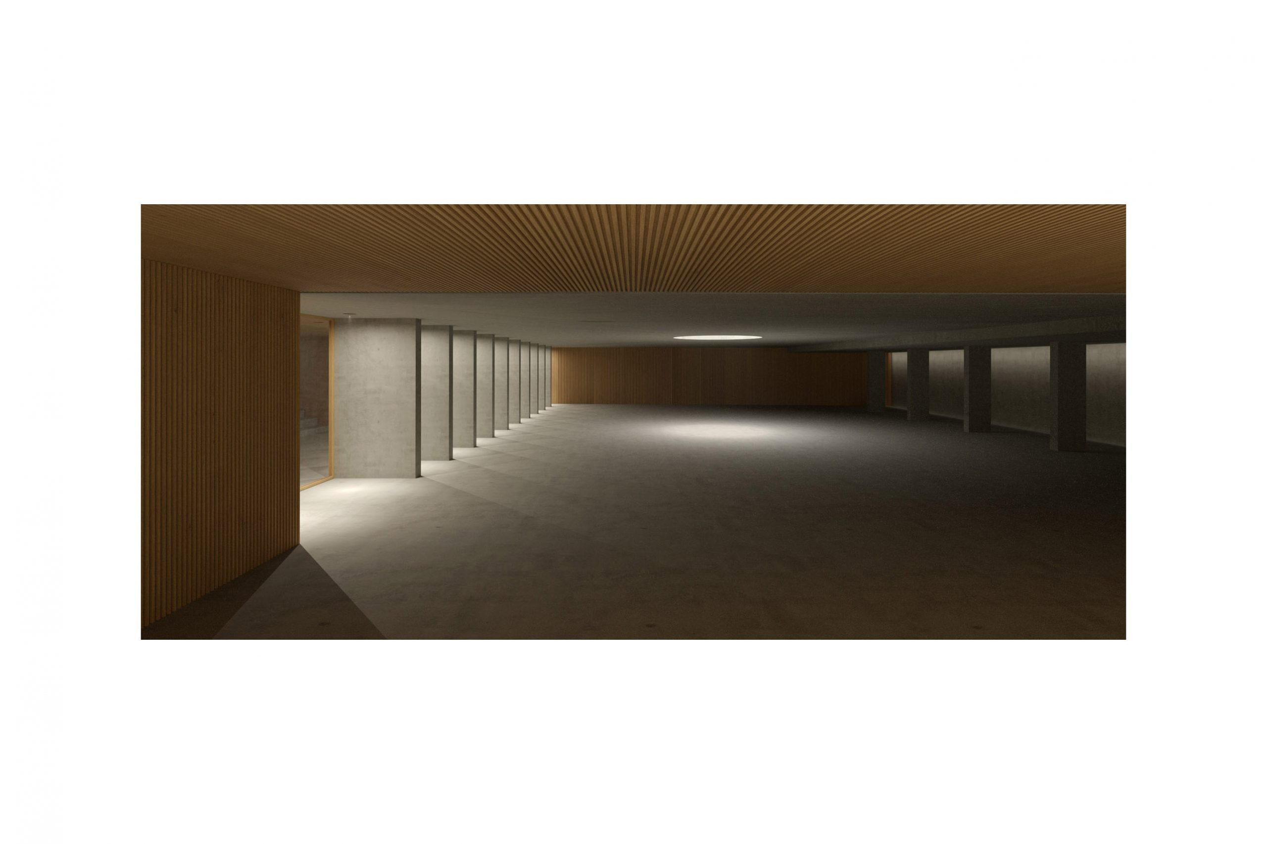 Architectural Interior Visualization for an interior garage by Philippe Meyer.