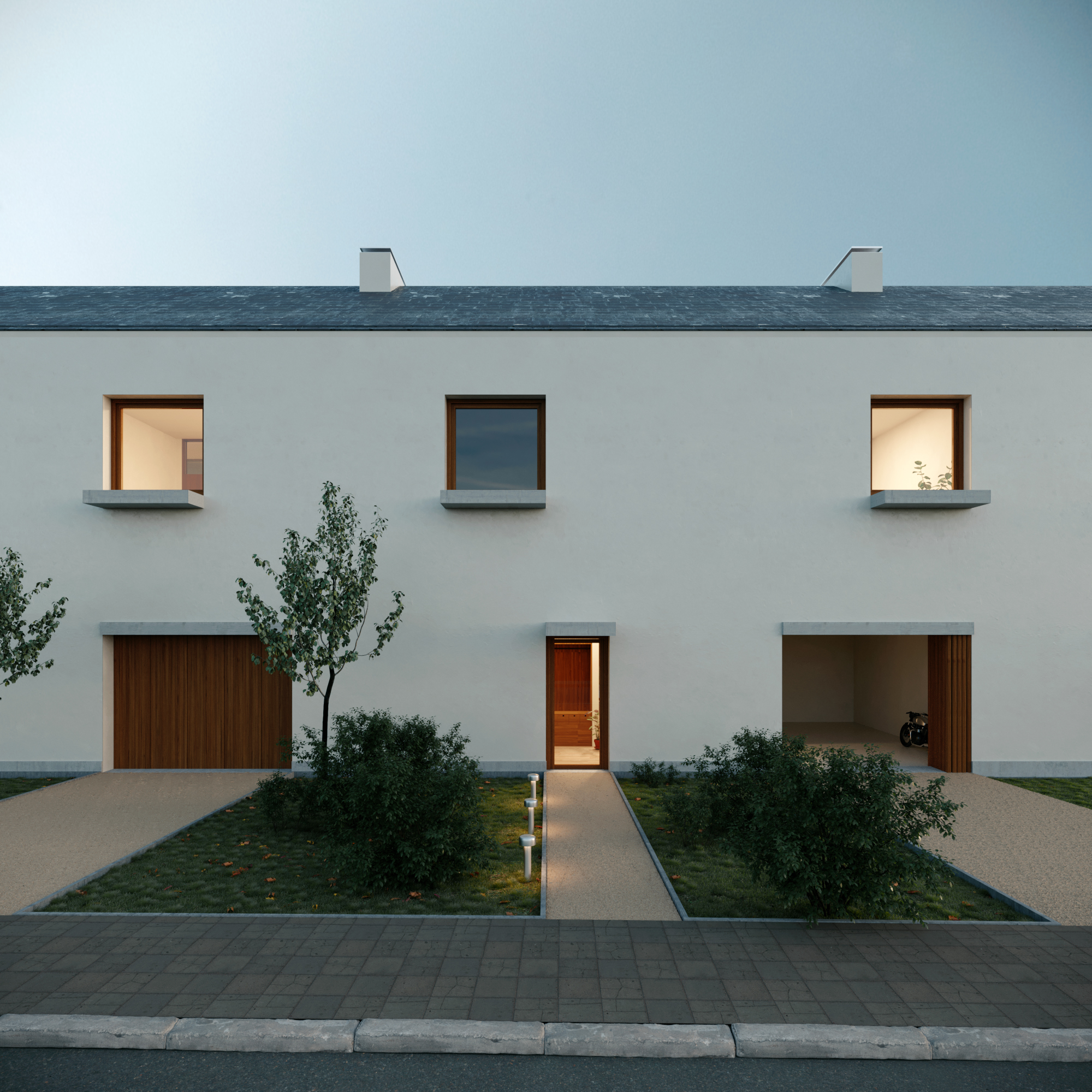 Architectural Visualization for an Housing project in Luxembourg by Alban Wagener Architecture.